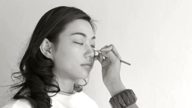 make-up artist black and white - self improvement stock videos and b-roll footage