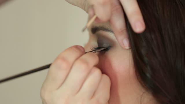 Makeup artist making make-up
