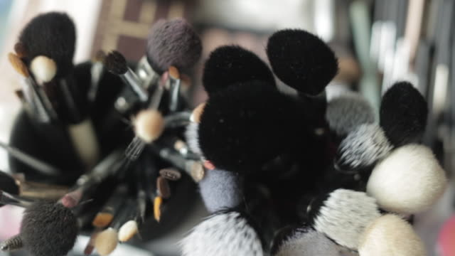 make-up brushes - make up brush stock videos and b-roll footage