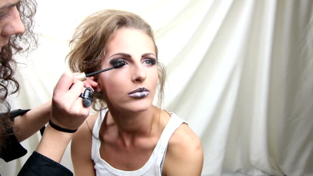makeup for photo shot - eastern european culture stock videos & royalty-free footage