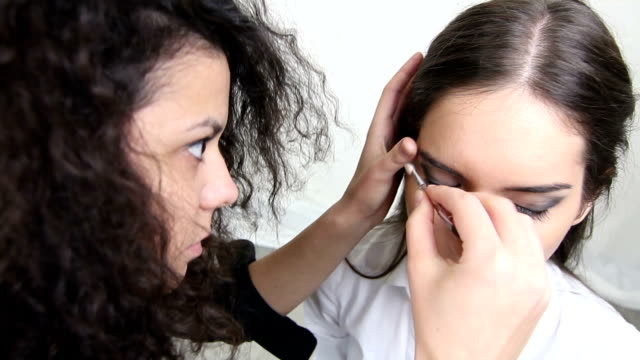 makeup for photo shot - lip liner stock videos & royalty-free footage