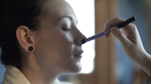 make-up makeover - make up brush stock videos and b-roll footage