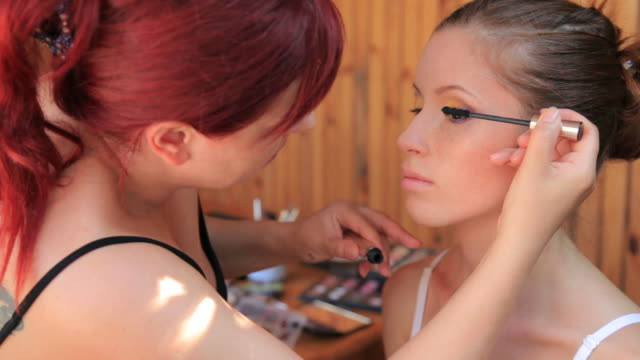 make-up of young woman