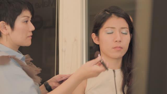 make-up salon.blush. - blusher make up stock videos and b-roll footage