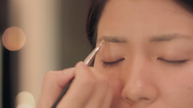 make-up salon.eye brow. - eyebrow stock videos & royalty-free footage