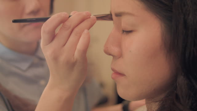 make-up salon.eye brow. - beautician stock videos and b-roll footage