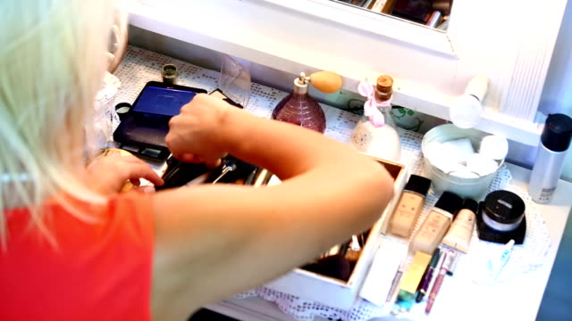 makeup. - blusher make up stock videos and b-roll footage