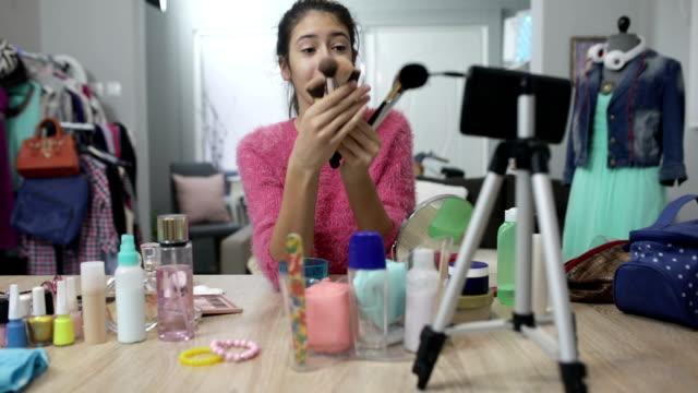makeup vlogging - webcam stock videos & royalty-free footage