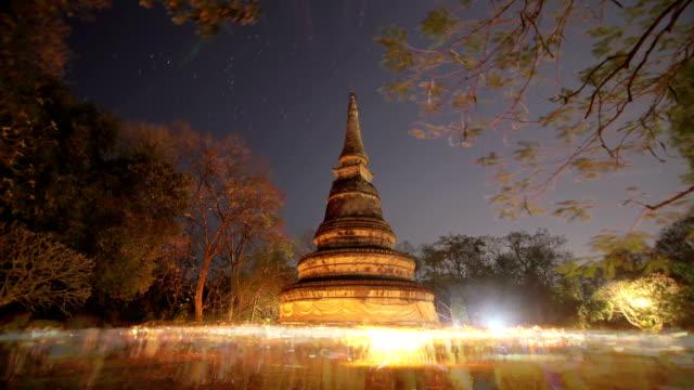 Makha Bucha Day at Wat Umong Chiang mai, Thailand