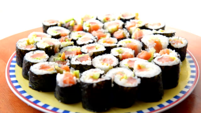 maki sushi - wasabi stock videos and b-roll footage
