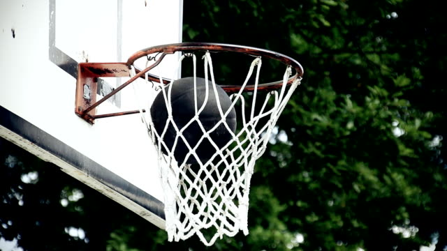 hd super slow-mo: making a basket - shooting baskets stock videos and b-roll footage