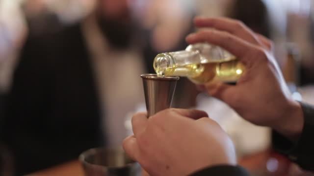 Making a Cocktail - Measuring the Liqueur