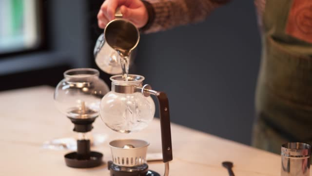 making a cofeee - decanter stock videos & royalty-free footage