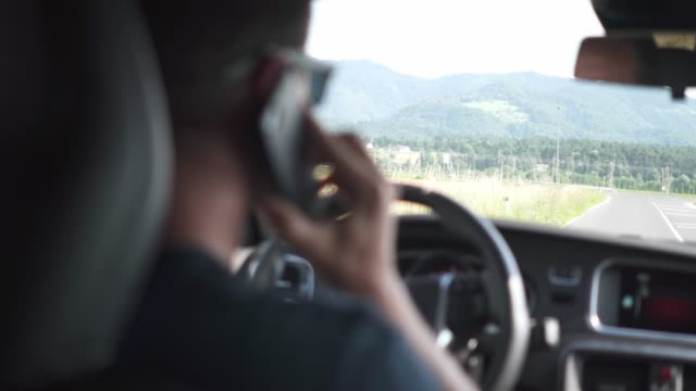 Making a phone call while driving