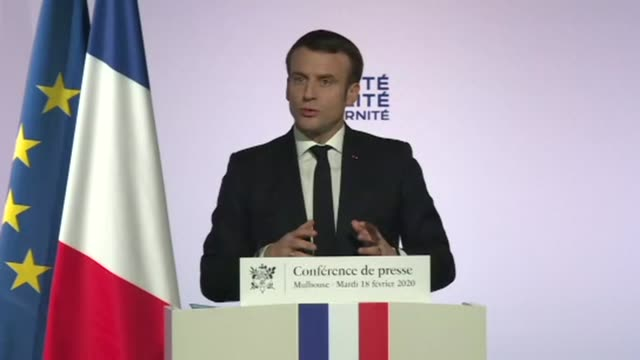making a plan against islam would be a profound mistake said emmanuel macron at the end of a trip to mulhouse to develop a strategy to tackle... - separatism stock videos & royalty-free footage