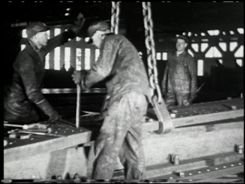 making a skyscraper (steel) 'empire state bldg.' - 2 of 10 - skyscraper stock videos & royalty-free footage