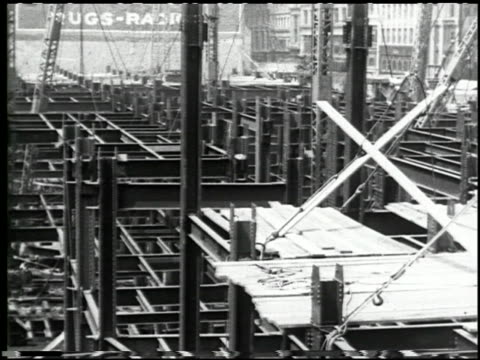 making a skyscraper (steel) 'empire state bldg.' - 9 of 10 - empire state building stock videos & royalty-free footage