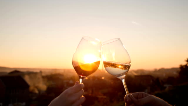 making a toast - wine glass stock videos & royalty-free footage