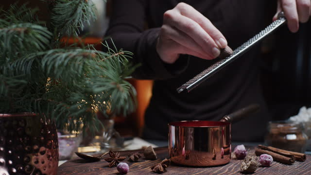 making and serving hot chocolate - hot chocolate stock videos & royalty-free footage