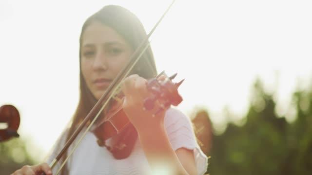making beautiful music - violin stock videos & royalty-free footage