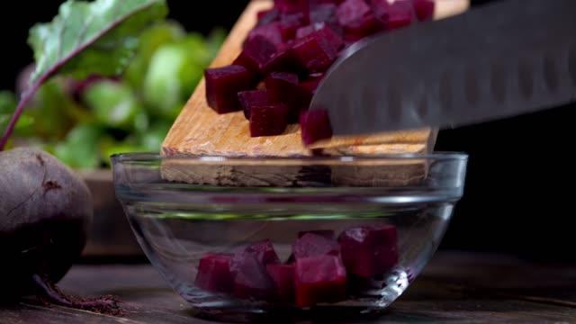 making beet salad - beet stock videos & royalty-free footage