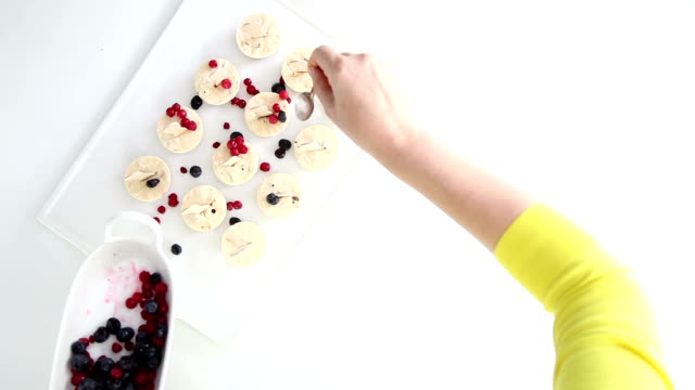 making berry ice cream - popsicle stick stock videos and b-roll footage