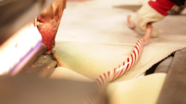 making candy canes - candy cane stock videos & royalty-free footage