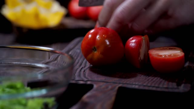 making cheese shells with fresh salad - chopping board stock videos & royalty-free footage