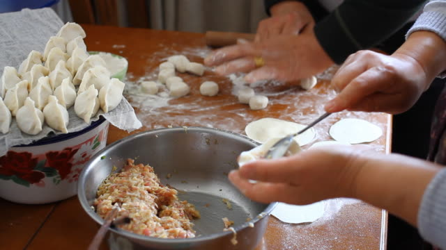 Making Chinese Dumplings