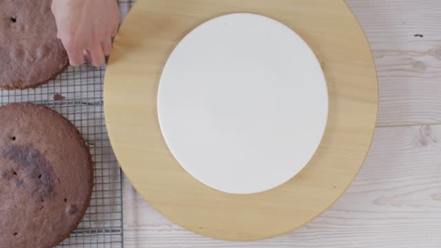 making chocolate cake - bowl stock videos & royalty-free footage