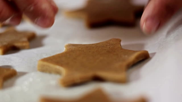 making christmas cookies - medium group of objects stock videos & royalty-free footage