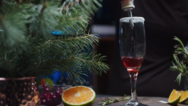 making christmas mocktails - syrup stock videos & royalty-free footage