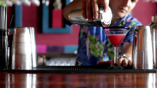 making cocktail - tropical cocktail stock videos & royalty-free footage