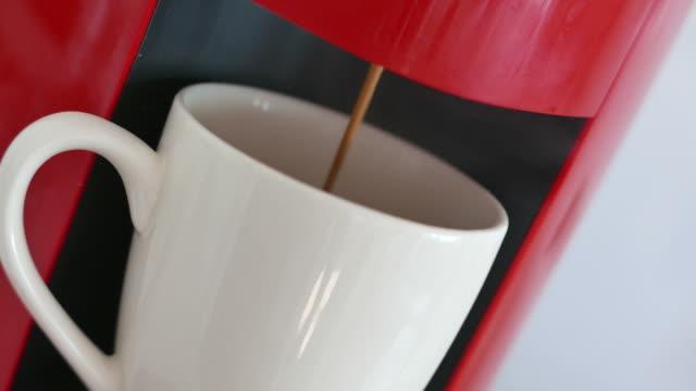 Making coffee with machine
