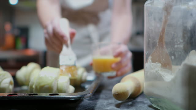 making croissants - puff pastry stock videos & royalty-free footage