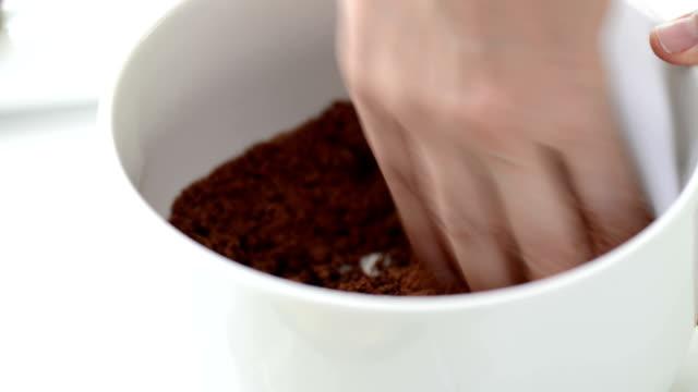 making dessert - crumble dessert stock videos and b-roll footage