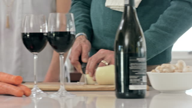 making dinner romantic - mature couple stock videos & royalty-free footage