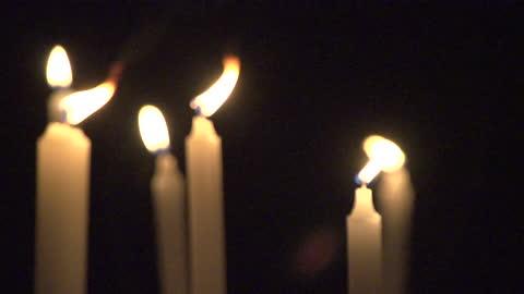 vidéos et rushes de making fire on candle / south korea - bougie
