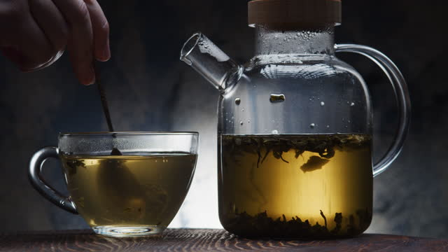 making green tea - traditional ceremony stock videos & royalty-free footage