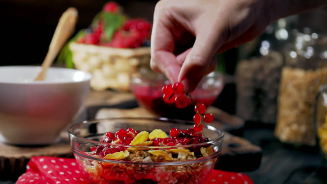 making healthy breakfast - currant stock videos & royalty-free footage