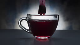 Making hibiscus tea