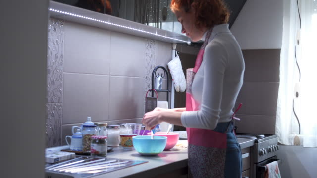 making homemade pie - 20 24 years video stock e b–roll