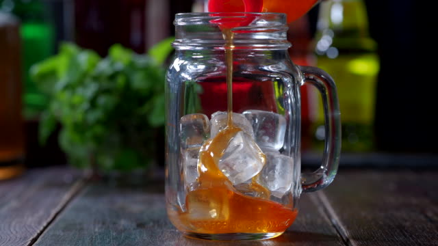 making iced coffee - syrup stock videos & royalty-free footage