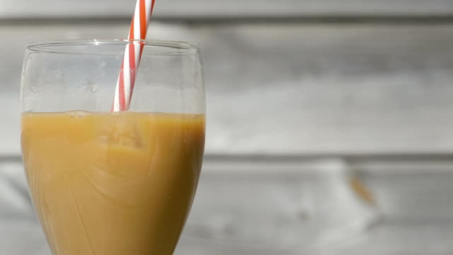 Making Iced Coffee with Milk