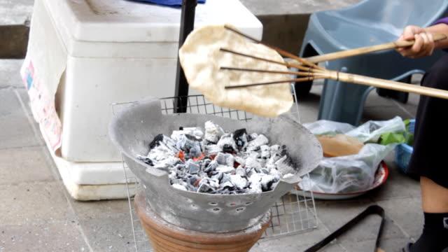 making kaokrieb rice cracker thai snack - cracker stock videos and b-roll footage