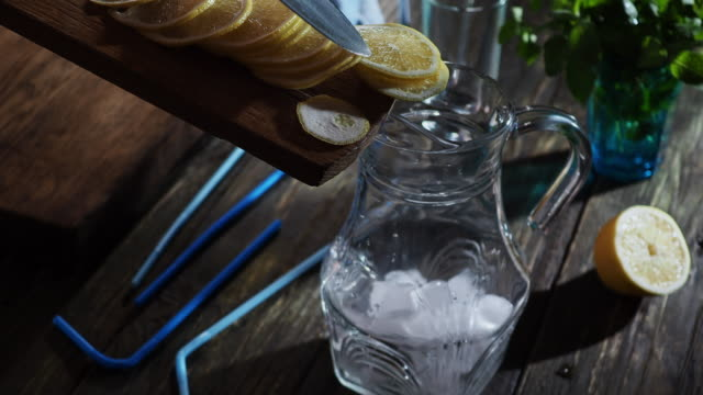 making lemonade - pitcher jug stock videos & royalty-free footage