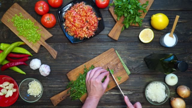 making mexican salsa - dipping stock videos & royalty-free footage