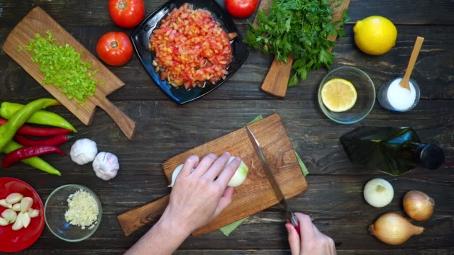 making mexican salsa - preparing food stock videos & royalty-free footage