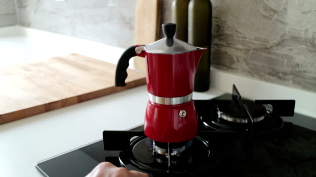 making morning coffee - espresso maker stock videos and b-roll footage