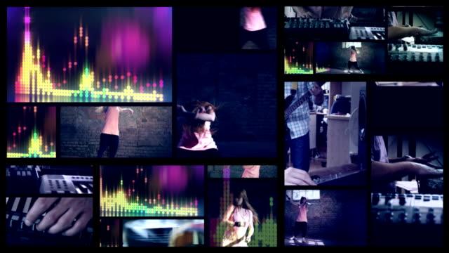 vídeos y material grabado en eventos de stock de la música. bailarina de hip hop pantalla dividida. - pantalla dividida